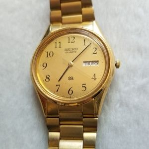 Seiko SQ Gold Calender/Day Watch
